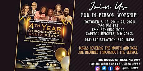 HOHDMV4th Church Anniversary In-Person Service (October 20, 2021) tickets
