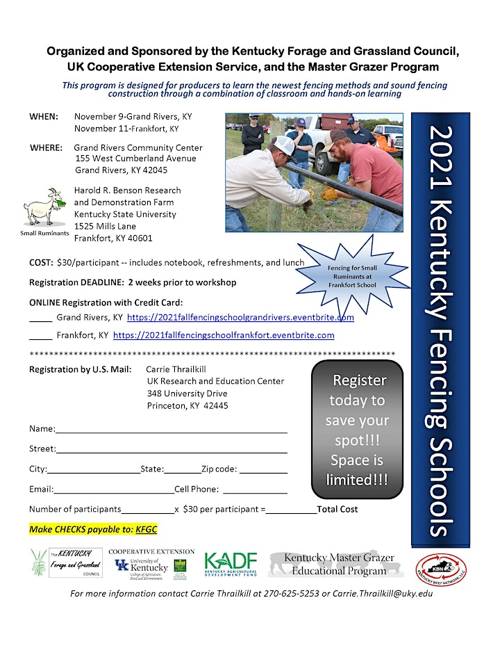 2021 Fall Fencing School Grand Rivers, KY image
