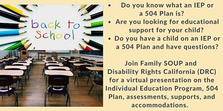 What's an Individual Education Plan (IEP) or a 504 Plan? tickets