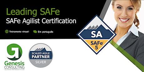 Leading SAFe certificação SAFe Agilist - Live OnLine - Português bilhetes
