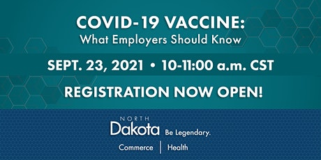 COVID-19 Vaccine: What Employers Should Know tickets