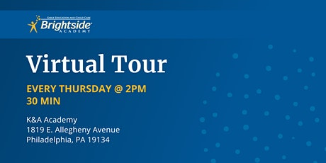Brightside Academy Virtual Tour of Our K&A Location, Thursday 2 PM tickets