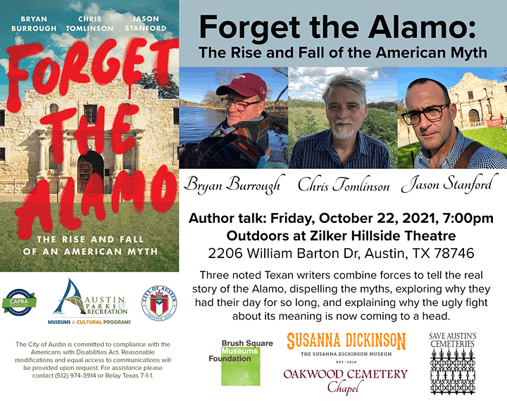 Forget the Alamo: The Rise and Fall of the American Myth- Author Talk image