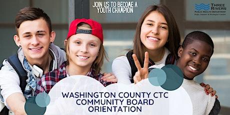 Washington County CTC Community Board Orientation Session 3 of 3 tickets
