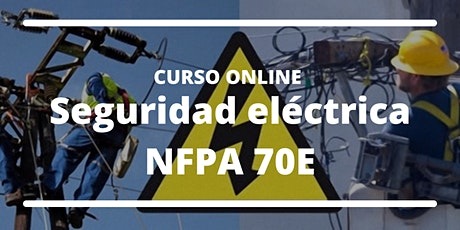 "Curso Online ""Seguridad eléctrica NFPA 70E"" entradas"