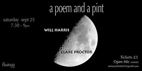 A Poem and a Pint with Will Harris  and Clare Proctor tickets
