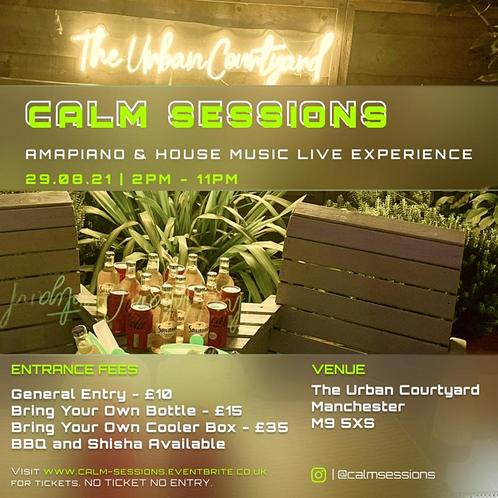 Calm Sessions   Amapiano and Live House Music Perfomances image