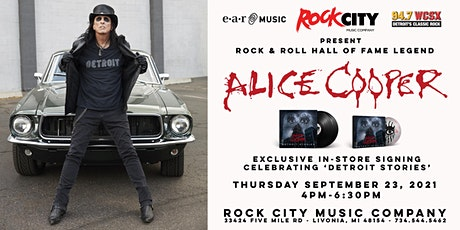 "Alice Cooper ""Detroit Stories"" In-Store Album Signing tickets"
