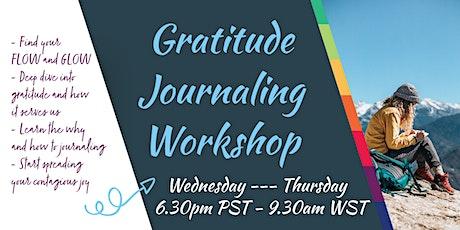 FREE Gratitude Journaling Workshop tickets