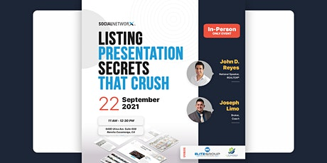 Real Estate Listing Presentation Secrets that Crush   In-Person Training tickets