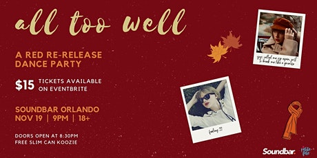 All Too Well: Red Re-Release Dance Party (Now TWO Nights!) tickets