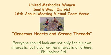 South West District United Methodist Women 16th Annual Meeting tickets