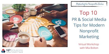 Top 10 PR & Social Media Tips for Modern Nonprofit Marketing tickets