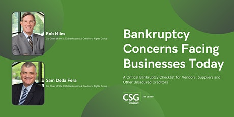 Bankruptcy Concerns Facing Businesses Today tickets
