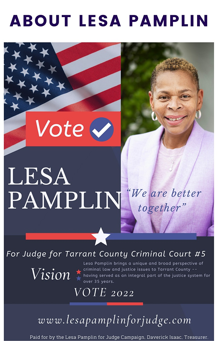 """Lesa Pamplin for Judge Campaign Presents """"Boots and Suits"""" image"""