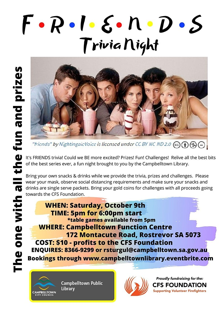 The One With The Trivia - A Friends Quiz Night! image