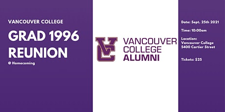 VC 1996 Reunion  (25 Years) tickets