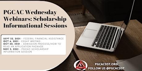 PGCAC Wednesday Webinars: Scholarship Informational Sessions tickets