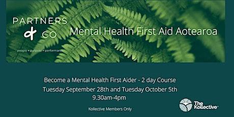 Mental Health First Aid Aotearoa tickets