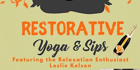 Restorative Yoga & Sips tickets