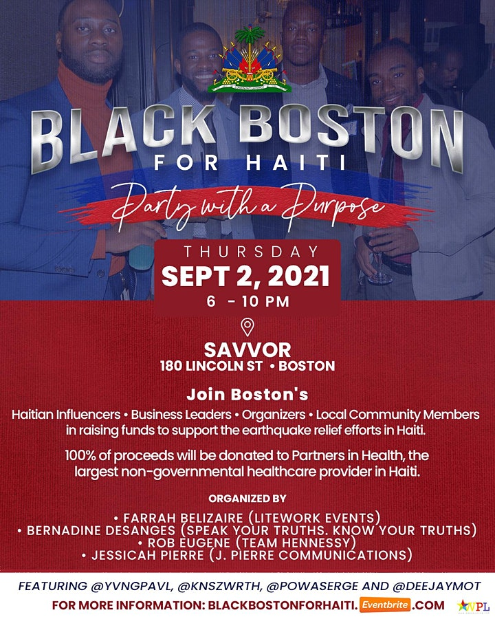 Black Boston for Haiti   Party with a Purpose image