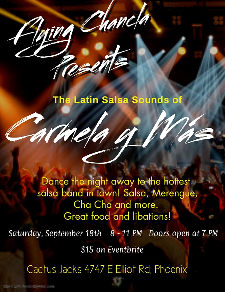 Flying Chancla Productions Presents Carmela y Mas Latin Salsa Band image