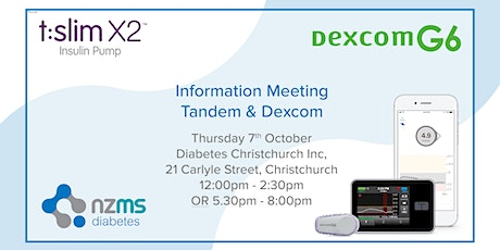 Introduction to Dexcom G6 and Tandem Basal IQ - Christchurch tickets