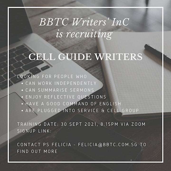 BBTC Writers' InC Training image