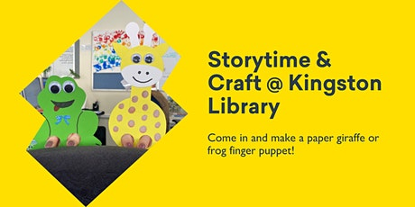 Storytime & Craft @ Kingston Library tickets