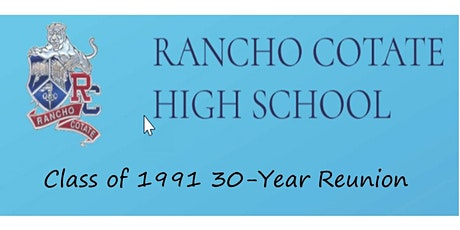 """RCHS Class of 1991 30-Year Class Reunion NOW INCLUDING """"Friends of '91"""" tickets"""