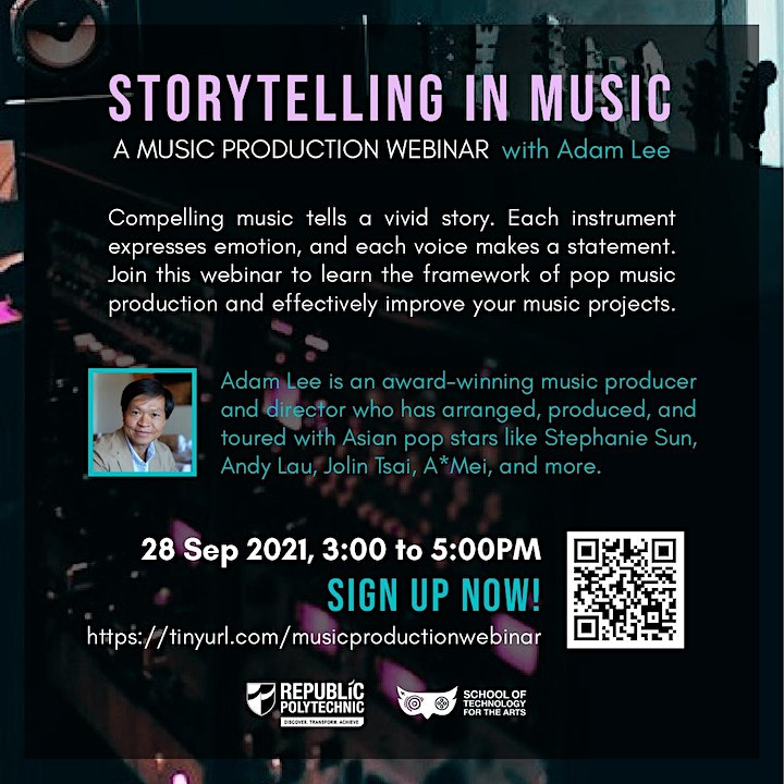 Storytelling in Music - A Music Production Webinar image