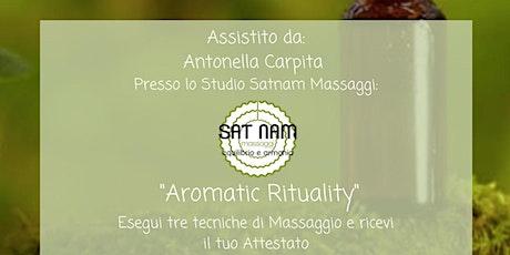 Corso Massaggio Aromatico, comprensivo d'insegnamento, manuale e Attestato biglietti