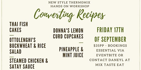Evening Thermomix Converting Recipes Workshop tickets