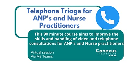 Telephone Triage for ANP's and Nurse Practitioners tickets