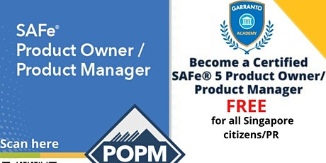 FREE SAFe Product Owner / Product Manager(POPM) course tickets