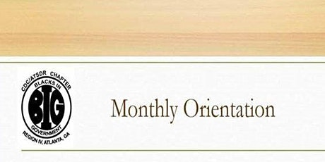 BIG Monthly Orientation Meeting tickets