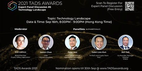TADS Awards 2021 : Expert Panel Discussion #6 - Technology landscape tickets