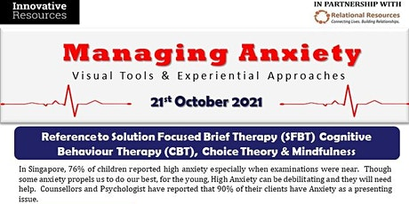Managing Anxiety with Visual Tools and Experiential Approaches Online tickets