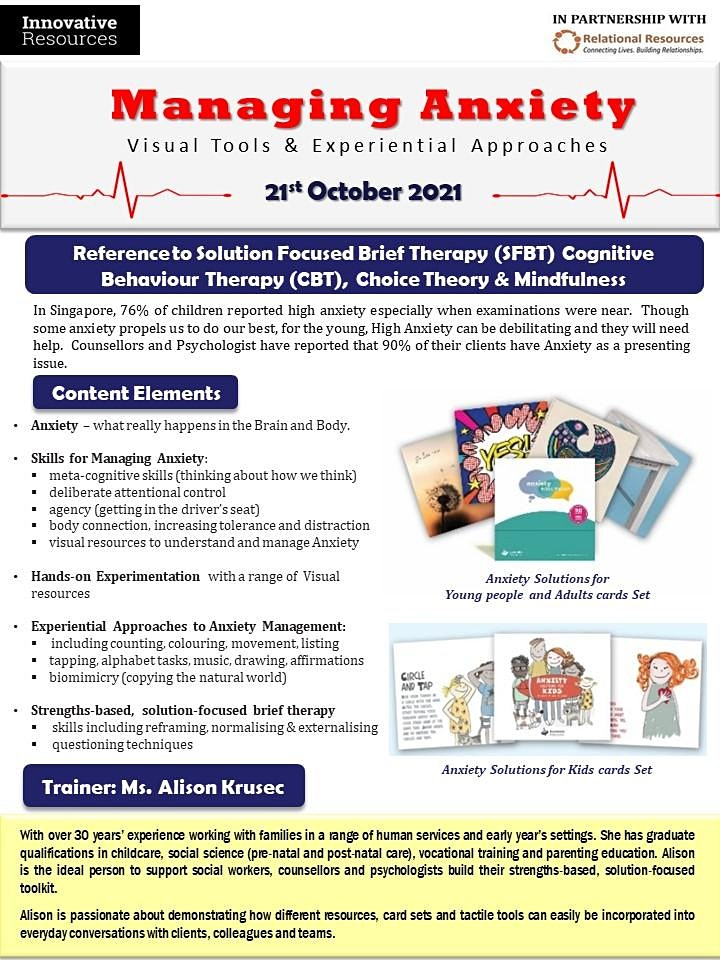 Managing Anxiety with Visual Tools and Experiential Approaches Online image