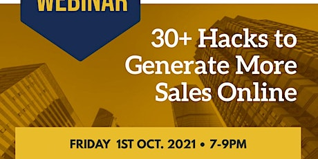 30+ Hacks to Generate More Sales Online tickets