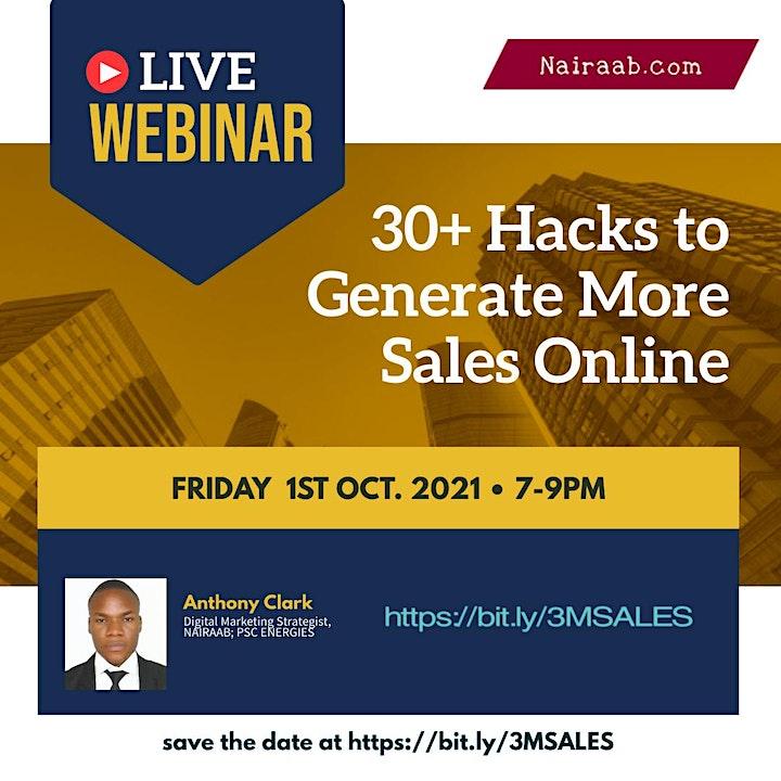 30+ Hacks to Generate More Sales Online image