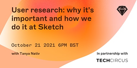 Sketch X Tech Circus - User research - why it's important and how we do it tickets