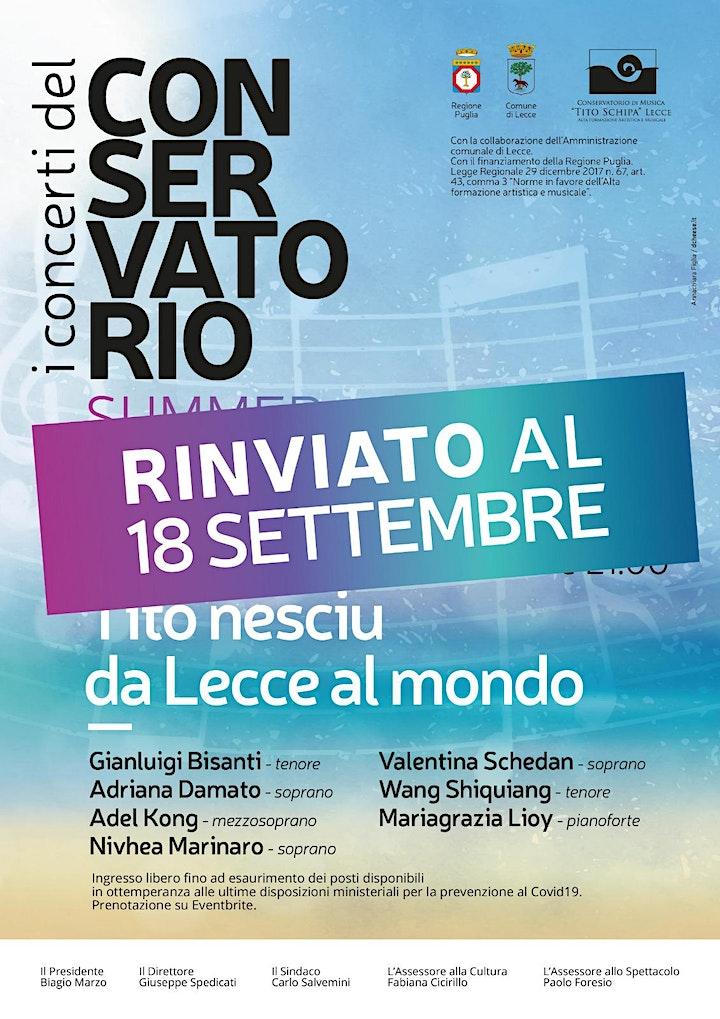 Immagine Tito Nesciu - da Lecce al mondo - I CONCERTI DEL CONSERVATORIO