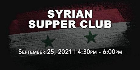 Syrian Drive-Thru Supper Club tickets