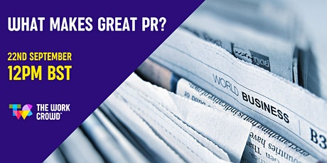 What Makes Great PR? tickets