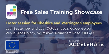 How to access 40% funded sales training  in Cheshire & Warrington tickets