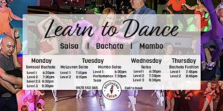 Learn to Dance - Salsa   Sensual Bachata   Mambo - First Week FREE tickets
