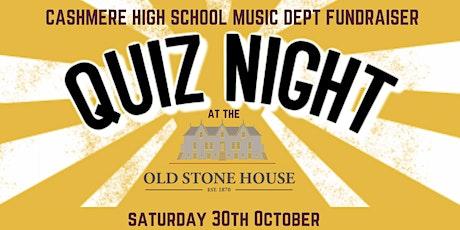 Quiz Night: Cashmere High Music Tour Fundraiser tickets