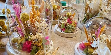 Atelier cloche de fleurs séchées billets