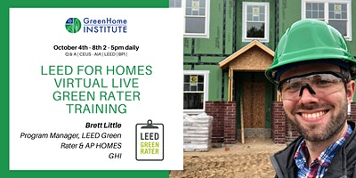 LEED for Homes Green Rater Training Live & Virtual